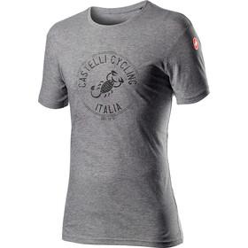 Castelli Armando T-Shirt Heren, melange vortex grey